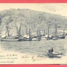 Postales: CARTAGENA-CASTILLO DE GALERAS-1166 ENRIQUE CARREÑO, HAUSER Y MENET,CIRCULADA 1902,VER FOTOS. Lote 154993022