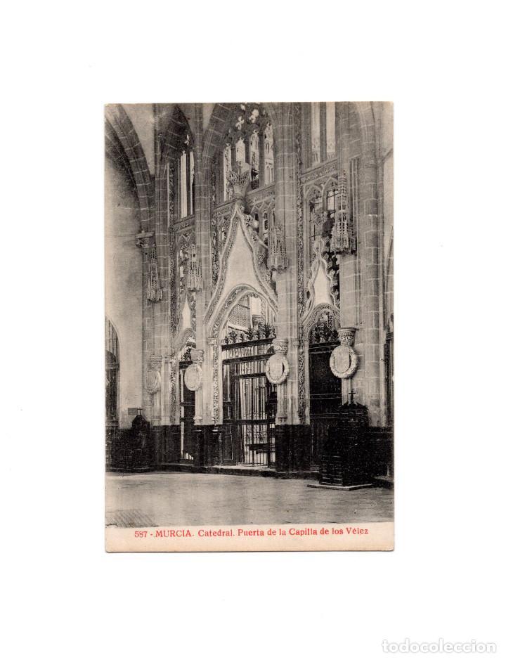 MURCIA.- CATEDRAL PUERTA DE LA CAPILLA DE LOS VÉLEZ (Postales - España - Murcia Antigua (hasta 1.939))