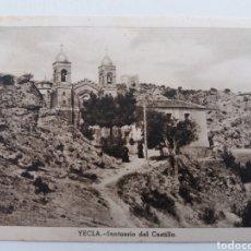Postales: YECLA. MURCIA. SANTUARIO DEL CASTILLO. POSTAL RECORTADA. Lote 156571202