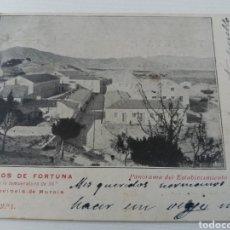 Postales: BAÑOS DE FORTUNA. MURCIA. ANTIGUA POSTAL MANUSCRITA, PARCIALMENTE RECORTADA.. Lote 156880098