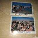 Postales: LOTE DE 2 POSTALES DE LO PAGAN Y SANTIAGO DE LA RIBERA (SAN JAVIER Y SAN PEDRO DE MURCIA). AÑOS 90. Lote 158474544