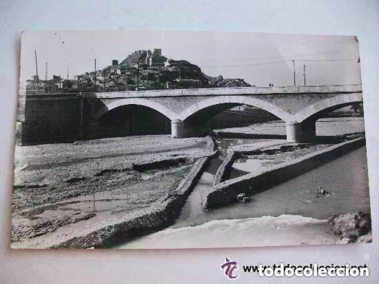 POSTAL DE LORCA ( MURCIA ): PUENTE SOBRE EL RIO . AÑOS 50 (Postales - España - Murcia Moderna (desde 1.940))
