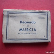 Postales: MURCIA.-ESCULTURAS DE SALCILLO.-FOTOGRAFIAS.-EDICIONES ARRIBAS.-BLOC EN MINIATURA CON 10 POSTALES.. Lote 160394102