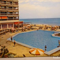 Postales: POSTAL LA MANGA MAR MENOR-HOTEL ENTREMARES-PISCINA-ESCRITA. Lote 160456150