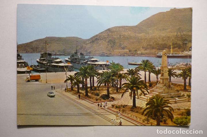 POSTAL CARTAGENA - MONUMENTO HEROES DE SANTIAGO Y CAVITE (Postales - España - Murcia Moderna (desde 1.940))