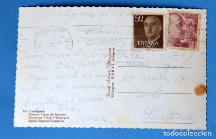 Postales: POSTAL DE CARTAGENA ( MURCIA): FUENTE PLAZA DE ESPAÑA - Foto 2 - 161709262