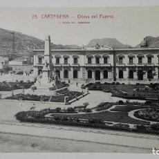 Postales: POSTAL CARTAGENA - OBRAS DEL PUERTO, FOTO L. ROISIN, SIN CIRCULAR. Lote 162798682