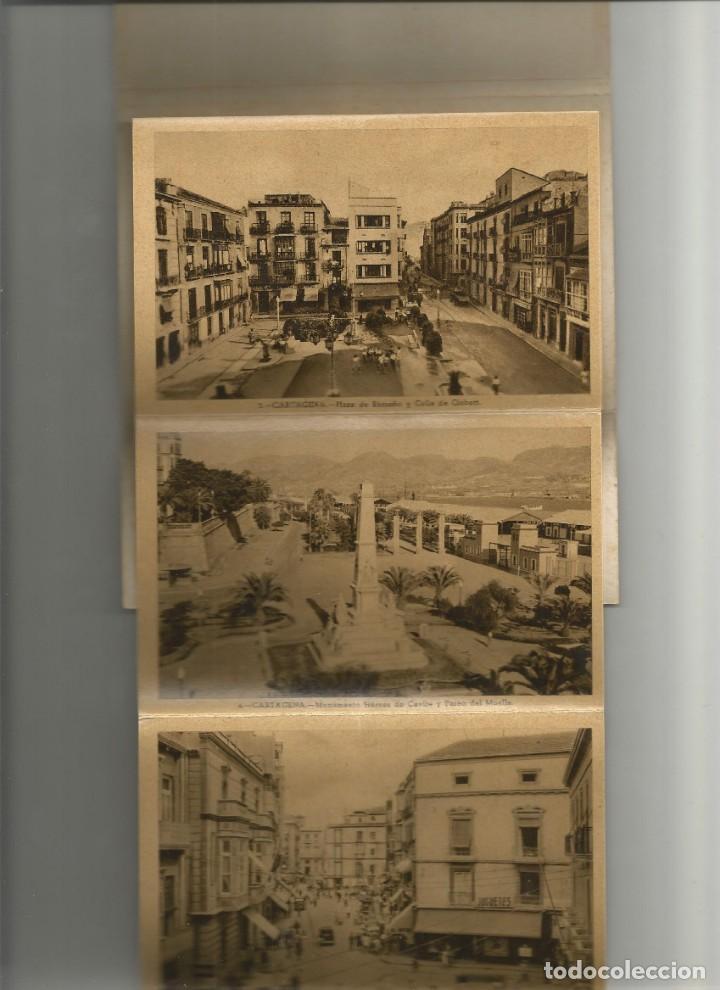 Postales: ALBUM DESPLEGABLE 10 POSTALES DE CARTAGENA-EDICION Y FOTOS CASAU-VARIEDAD-VER FOTOS - Foto 2 - 149501562