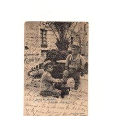 Postales: BAÑOS DE ARCHENA.(MUCIA).- MANOLO LIMPIA BOTAS - ENANISMO.. Lote 163750938