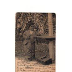 Postales: BAÑOS DE ARCHENA.(MUCIA).- MANOLO LIMPIA BOTAS - ENANISMO.. Lote 163751270