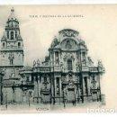 Postales: MURCIA TORRE Y PORTADA DE LA CATEDRAL HAUSER Y MENET 844. REVERSO SIN DIVIDIR. SIN CIRCULAR. Lote 163777474