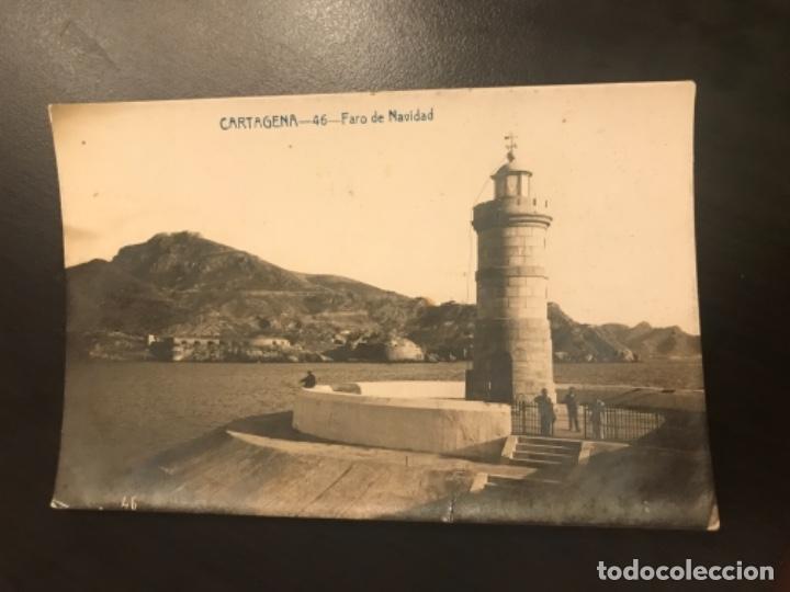 POSTAL CARTAGENA 46 FARO DE NAVIDAD FABERT (Postales - España - Murcia Antigua (hasta 1.939))