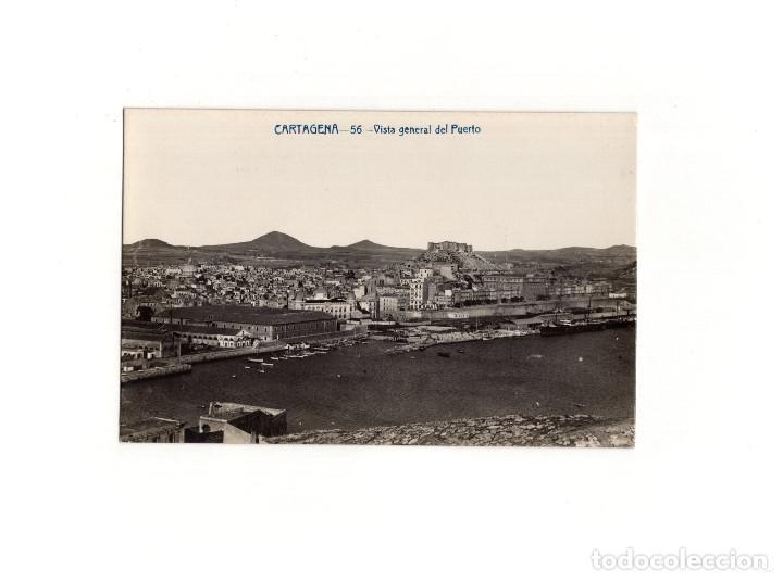 CARTAGENA.(MURCIA).- VISTA GENERAL DEL PUERTO. POSTAL FOTOGRÁFICA. A. FABERT. (Postales - España - Murcia Antigua (hasta 1.939))