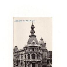 Postales: CARTAGENA.(MURCIA).- PALACIO MUNICIPAL. POSTAL FOTOGRÁFICA. A. FABERT.. Lote 164573230