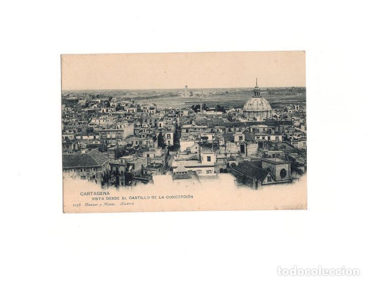 CARTAGENA.(MURCIA).- VISTA DESDE EL CASTILLO DE LA CONCEPCIÓN. (Postales - España - Murcia Antigua (hasta 1.939))