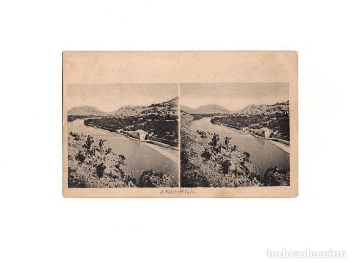 ARCHENA.(MURCIA).- POSTAL ESTEREOSCÓPICA. (Postales - España - Murcia Antigua (hasta 1.939))