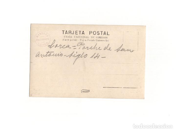 Postales: LORCA.(MURCIA).- PORCHE DE SAN ANTONIO. POSTAL FOTOGRÁFICA. PEDRO MENCHÓN. - Foto 2 - 164853242