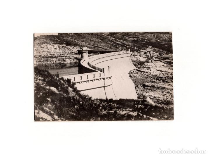 LORCA.(MURCIA).- PRESA EMBALSE DEL PANTANO DE PUENTES. POSTAL FOTOGRÁFICA. PEDRO MENCHÓN. (Postales - España - Murcia Antigua (hasta 1.939))