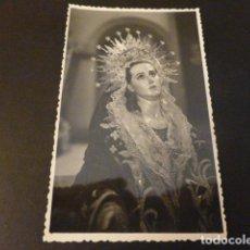 Postales: CARTAGENA MURCIA SEMANA SANTA VIRGEN POSTAL FOTOGRAFICA SELLO EN TINTA FOTO CASAU. Lote 165008282