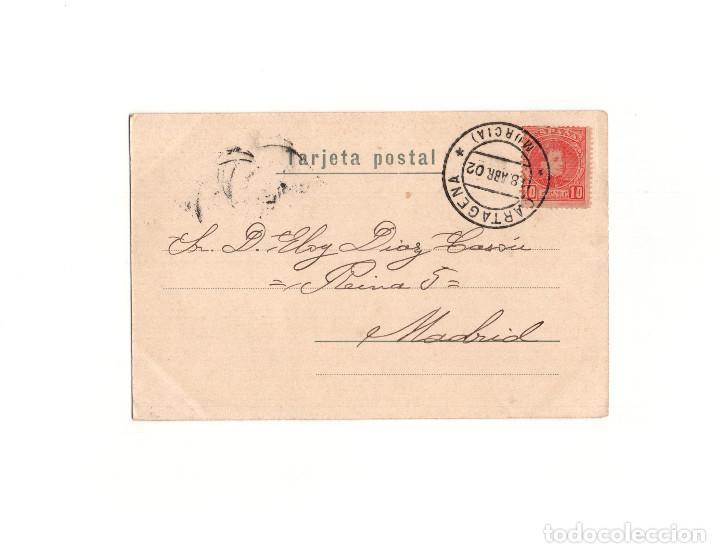 Postales: CARTAGENA.(MURCIA).- PABELLÓN MILITAR, PUERTA DEL ARSENAL. BERNARDO LASSERE. - Foto 2 - 165201186
