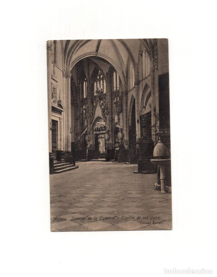 MURCIA.- INTERIOR DE LA CATEDRAL. CAPILLA VELEZ. (Postales - España - Murcia Antigua (hasta 1.939))