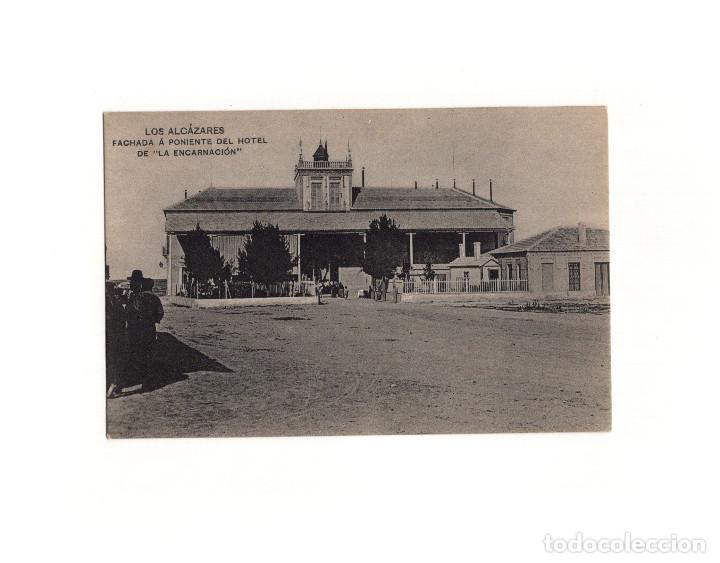 LOS ALCÁZARES.(MURCIA).- FACHADA A PONIENTE DEL HOTEL DE LA ENCARNACIÓN. (Postales - España - Murcia Antigua (hasta 1.939))