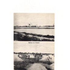 Postales: PINATAR.(MURCIA).- SALINAS DE PINATAR Y EXTRACCIÓN DE SAL DE UNA BALSA DE CUAJE.. Lote 165390014