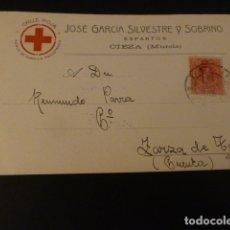 Postales: CIEZA MURCIA JOSE GARCIA SILVESTRE Y SOBRINO ESPARTOS POSTAL PUBLICITARIA COMERCIAL. Lote 165396526