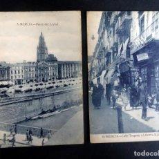 Postales: LOTE DE 2 POSTALES ANTIGUAS DE MURCIA, VER FOTOS. Lote 165497994