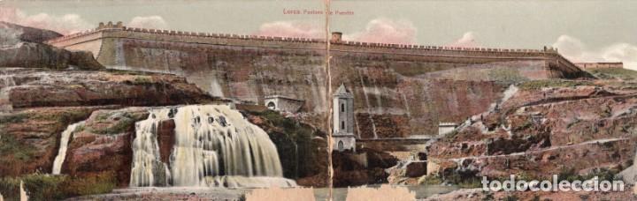 LORCA. PANTANO DE PUENTES. POSTAL DOBLE (Postales - España - Murcia Antigua (hasta 1.939))