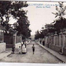 Postales: POSTAL FOTOGRÁFICA. CARTAGENA. 23 CALLE DE LA MARINA. BARRIO DE PERAL. AMA DE CRIA. SIN CIRCULAR.. Lote 165722430