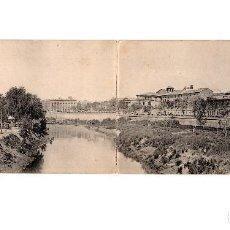 Postales: MURCIA.- PANORAMA DESDE EL PUENTE NUEVO. POSTAL DOBLE. HAUSER Y MENET, Nº 467 Y 468. Lote 165953194