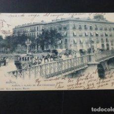 Postales: MURCIA PUENTE Y PLANO DE SAN FRANCISCO. Lote 166052822