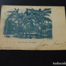 Postales: CARTAGENA MURCIA PLAZA DEL REY COLECCION ROLANDI MUY RARA POSTAL CIRCULADA EN 1902. Lote 166094998