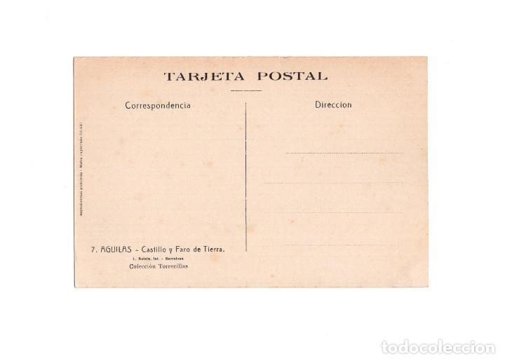 Postales: AGUILAS.(MURCIA).- CASTILLO Y FARO DE TIERRA. - Foto 2 - 166158802