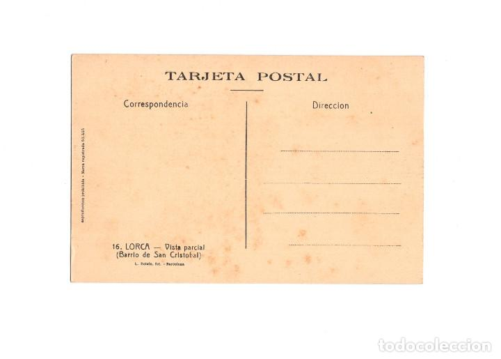 Postales: LORCA.(MURCIA).- VISTA PARCIAL. BARRIO DE SAN CRISTOBAL. - Foto 2 - 166160054