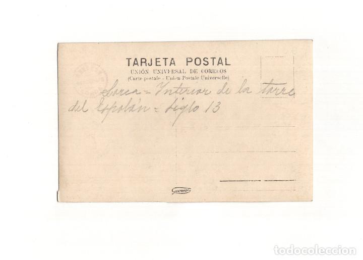 Postales: LORCA.(MURCIA).- INTERIOR TORRE DEL ESPOLÓN. POSTAL FOTOGRÁFICA. FOTO MENCHÓN. - Foto 2 - 166163462