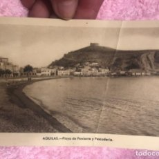 Postales: AGUILAS MURCIA POSTAL PLAYA DE PONIENTE Y PESCADERIA, FOTO AZNAR.. Lote 166275270