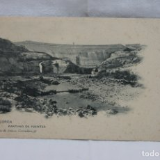 Postales: POSTAL LORCA, PANTANO DE PUENTES, DIARIO DE AVISOS.. Lote 166836842