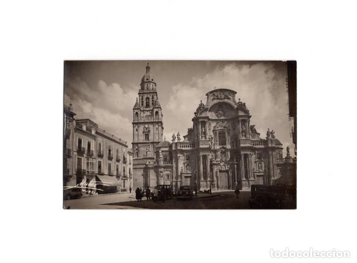 MURCIA.- CATEDRAL. FACHADA. POSTAL FOTOGRÁFICA. FOTO MATEO. (Postales - España - Murcia Antigua (hasta 1.939))