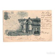Postales: MURCIA.- ESPAÑA. MAPA. ROMEA. Nº 31 SERIE PROVINCIAS MAPAS TIPOS MURCIANOS.. Lote 167919284