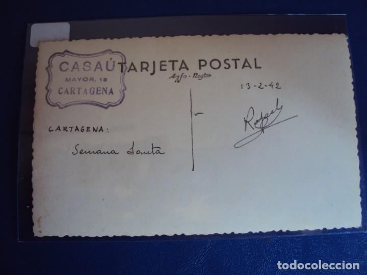 Postales: (PS-60735)POSTAL FOTOGRAFICA DE CARTAGENA-SEMANA SANTA 1942 - Foto 2 - 168260584