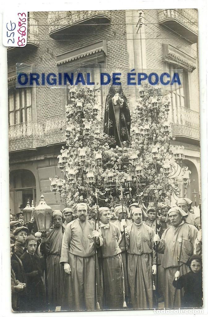 (PS-60983)POSTAL FOTOGRAFICA DE CARTAGENA-PROCESION SEMANA SANTA.FOTOGRAFIA CASAU (Postales - España - Murcia Antigua (hasta 1.939))
