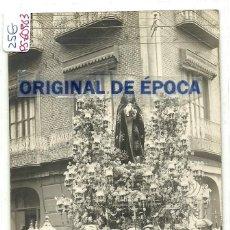 Postales: (PS-60983)POSTAL FOTOGRAFICA DE CARTAGENA-PROCESION SEMANA SANTA.FOTOGRAFIA CASAU. Lote 170509104