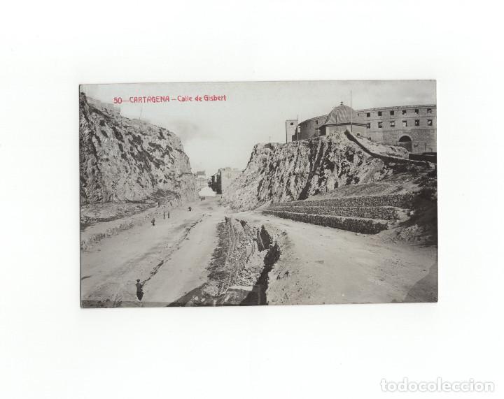 CARTAGENA.(MURCIA).- CALLE DE GISBERT. POSTAL FOTOGRÁFICA. A. FABERT. (Postales - España - Murcia Antigua (hasta 1.939))