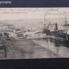 Postales: AGUILAS MURCIA VISTA PARCIAL DEL MUELLE. Lote 171808629