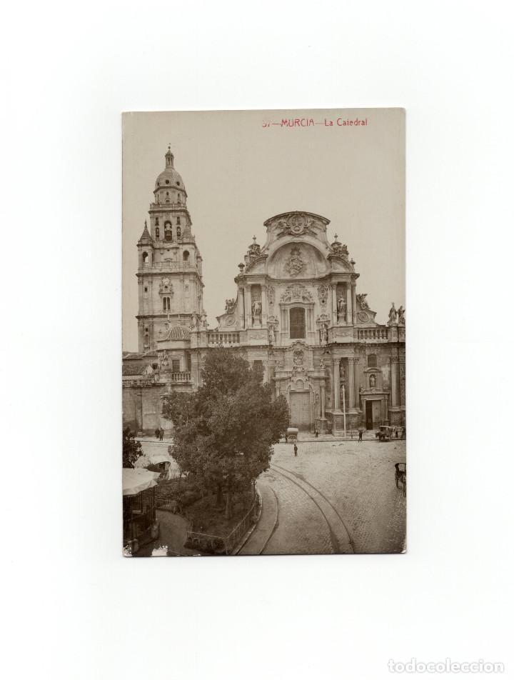 MURCIA.- LA CATEDRAL. POSTAL FOTOGRÁFICA. (Postales - España - Murcia Antigua (hasta 1.939))