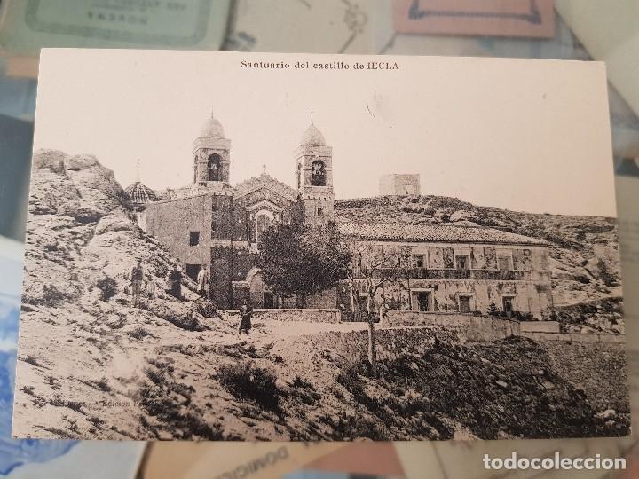 ANTIGUA POSTAL SANTUARIO DEL CASTILLO YECLA MURCIA EDICION PERUCHO (Postales - España - Murcia Antigua (hasta 1.939))