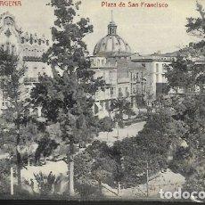 Postales: POSTAL * CARTAGENA, PLAZA DE SAN FRANCISCO * LA INDUSTRIAL FOTOGRÁFICA 55. Lote 172907614