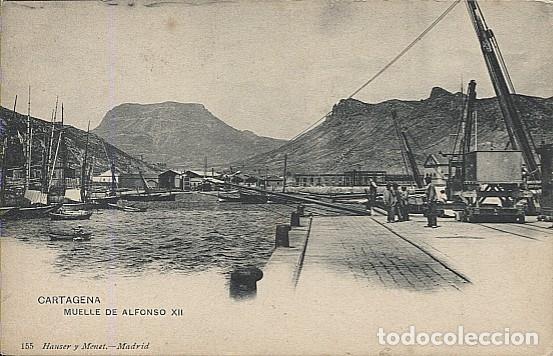 X121974 MURCIA CARTAGENA MUELLE ALFONSO XII PRECURSOR ANTES DE 1904 HAUSER Y MENET (Postales - España - Murcia Antigua (hasta 1.939))